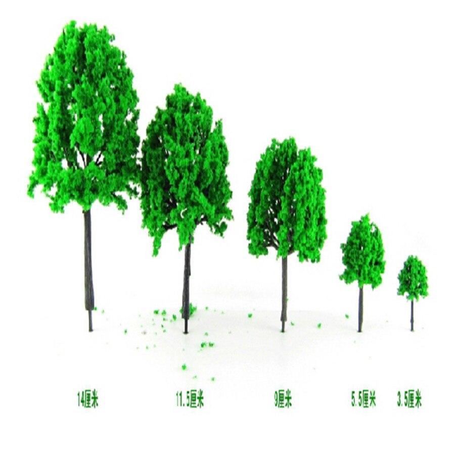 3cm-17cm 20pcs/lot  miniature  green Plastic scale Model street model  Trees for ho train railway layout