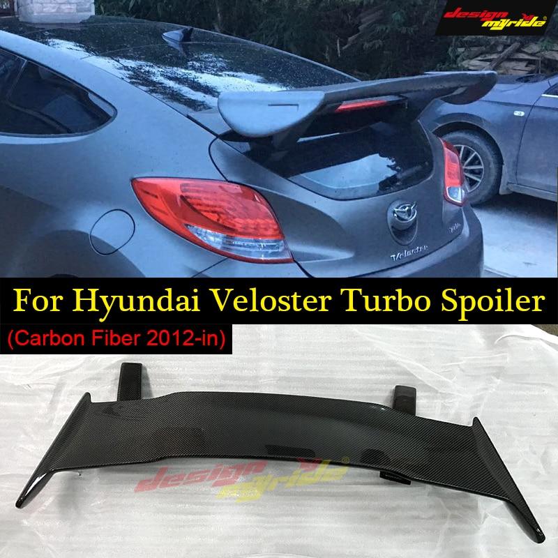 Designmyride Fit for HyundaI Veloster Turbo Spoiler Ver2 Gt-Wing Style  carbon fiber rear spoiler rear wing Roof Spoiler 2011-in