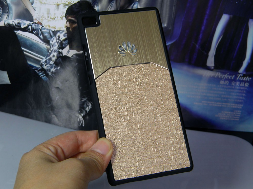 Dla huawei p8 lite case p9 lite plus honor 8 p9 pokrywy hybird Szczotkowanego aluminium Metal z Luksusowych Skóry materiał darmowa wysyłka 11
