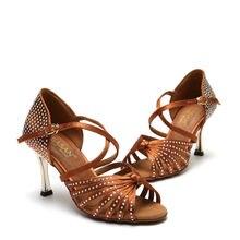 Standard Dance Shoe Party Ballroom Dancing Sneakers Diamond Flesh Fitness Breathable Ladies Aerobics