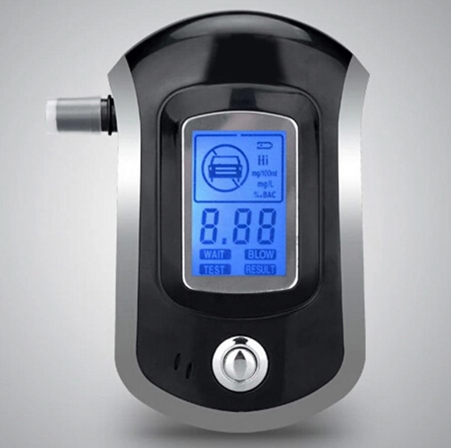 Mini pantalla Digital LCD para policía, alcoholímetro, alcoholímetro, patente AT6000, alcoholímetro con pantalla LCD, sin batería