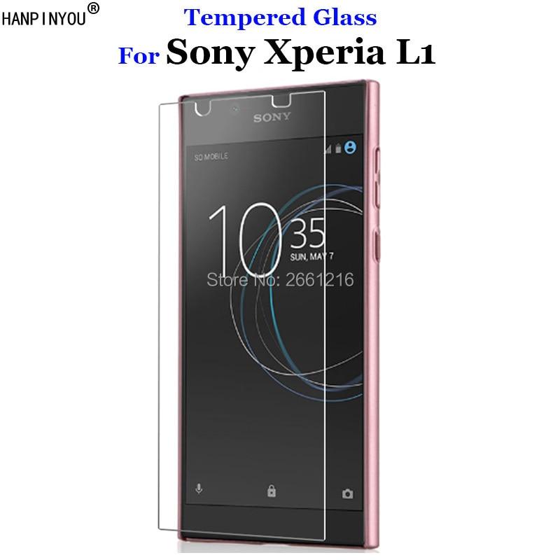 "Para Sony Xperia Tela 2.5D Prêmio de Vidro Temperado 9 H L1 Film Protector Para Sony Xperia L1 G3311 G3312 G3313 5.5"""