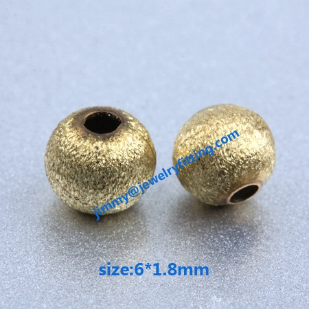 size 6*1.5mm Jewelry findings metal beads brass stain beads brush  copper beads