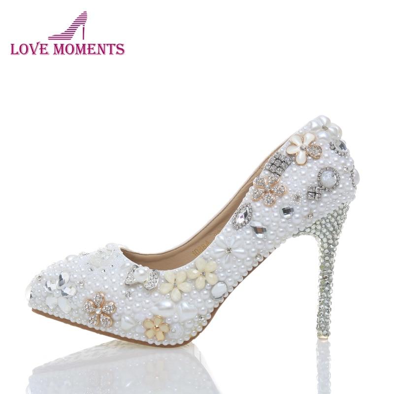 Primavera nuevo estilo zapatos de fiesta de boda hechos a mano punta estrecha nupcial fiesta bombas Sexy Boda de Princesa tacones de aniversario