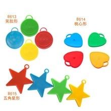 3 pièces/lot 8cm diamètre ballon accessoires feuille hélium ballons portant pendentifs latex ballon tombant compteur poids bloc 6z