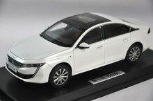 118 modèle moulé sous pression pour Peugeot 508L 508 2019 blanc Rare alliage jouet voiture Miniature Collection cadeaux