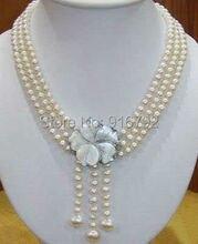 Жемчужное ожерелье HYFY20143235e, 7-8 мм, 3Strds, Akoya