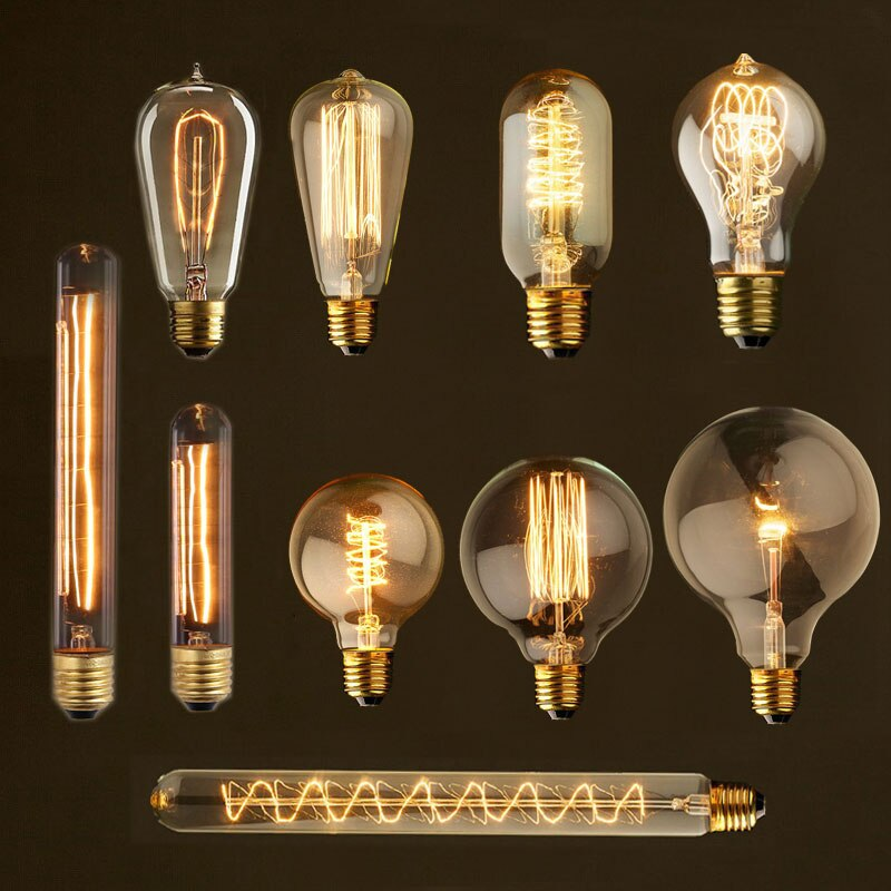 Bombilla Edison vintage E27 40w lámpara retro lámpara incandescente ampolla 220V para decoración filamento bombilla E27 lámpara colgante bombilla antigua
