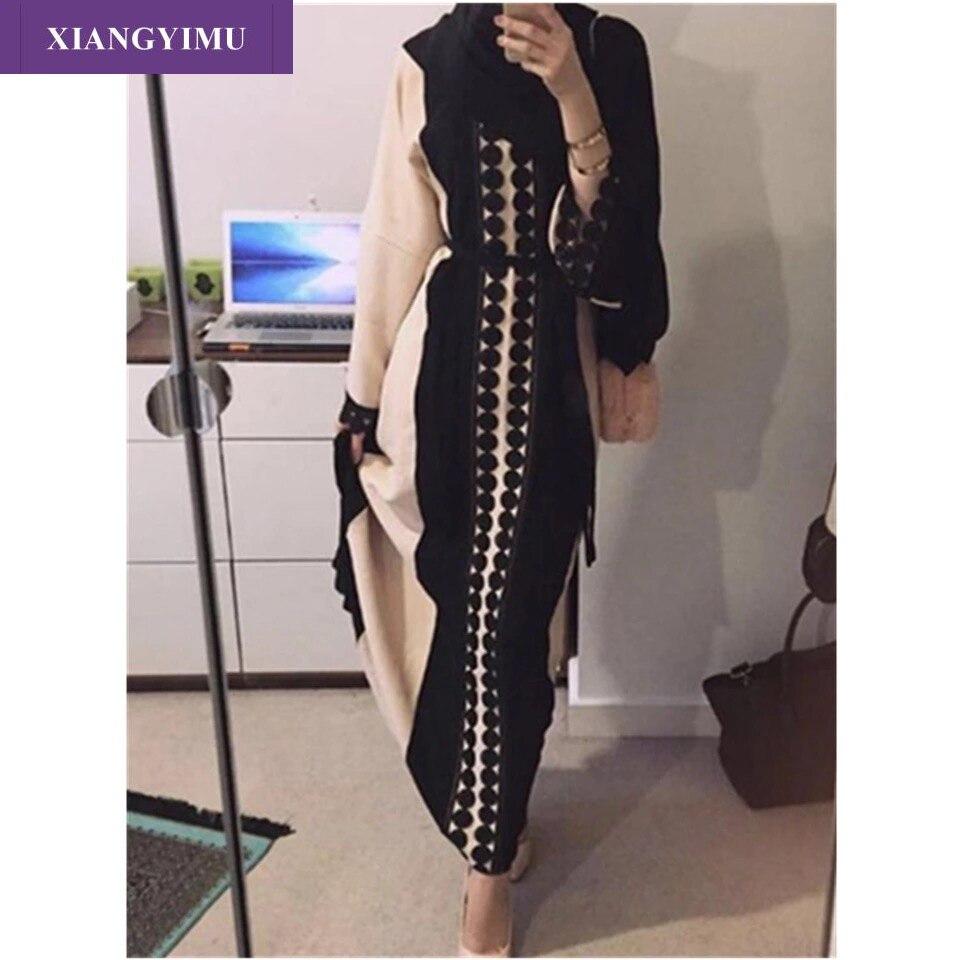 Vestidos maxi de encaje de f8849-5 directo de fábrica se venden bien en árabe Turquía Malasia abayas maxi vestido de moda