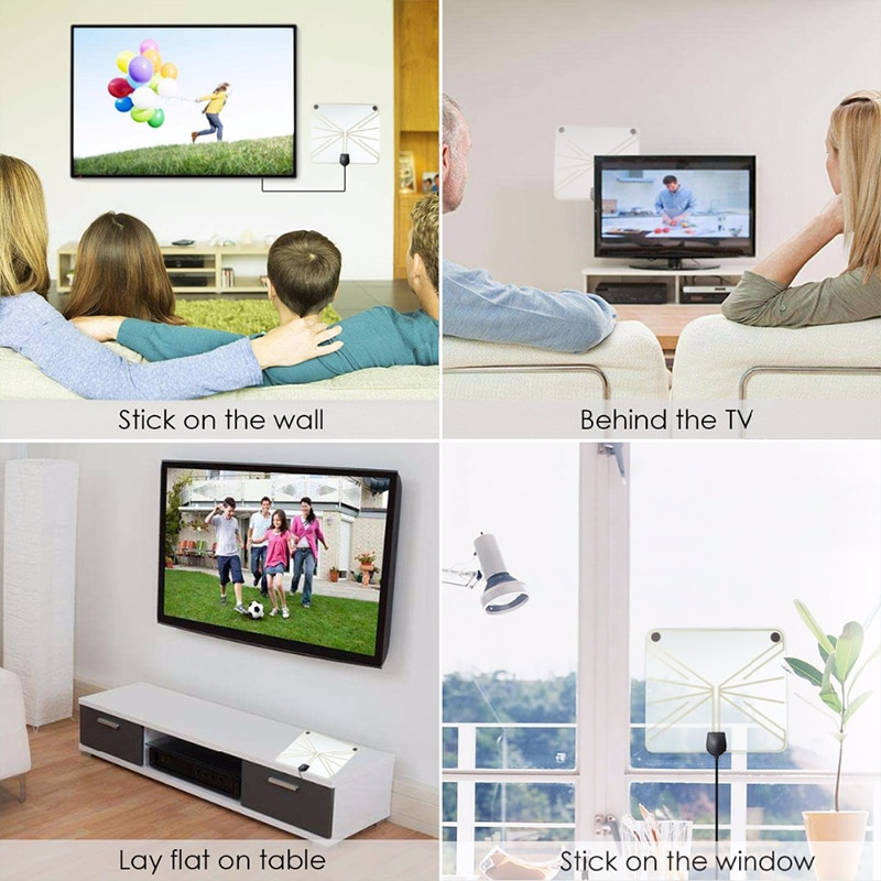 Hqclear-antena de televisión digital para exteriores, dispositivo receptor hqclear, amplificador de interior...