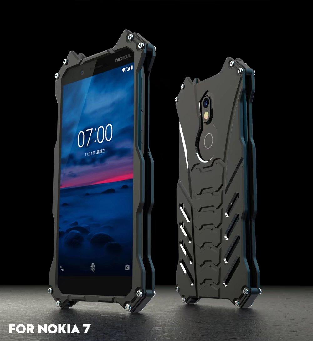 R-just For Nokia 7 Armor Heavy Dust Metal Aluminum Cnc Batman Phone Shell Case Cover For For Nokia 7 Plus/x5 2018 5.1 Plus Coque