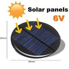 LEORY DIY Solar Power 6V 2W 0,35 EINE 80MM Kreis Runde Polykristalline Silizium Solar Panel Epoxy Bord solarzelle Modul Mini