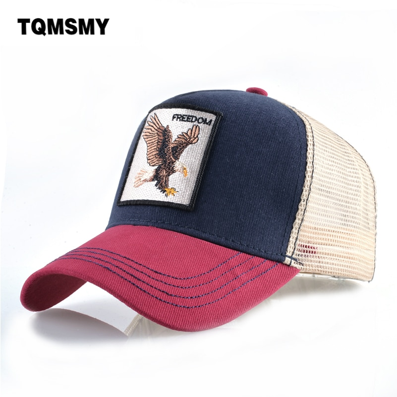 Na co dzień czapki z daszkiem dla mężczyzn haft orzeł czapka typu snapback kobiety lato Mesh Trucker kości Unisex Hip Hop kapelusz bawełna Casquette