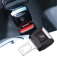 1 piece car logo vehicle seat belt extension extender safety buckle clip for audi skoda nissan infiniti cadillac mitsubishi more