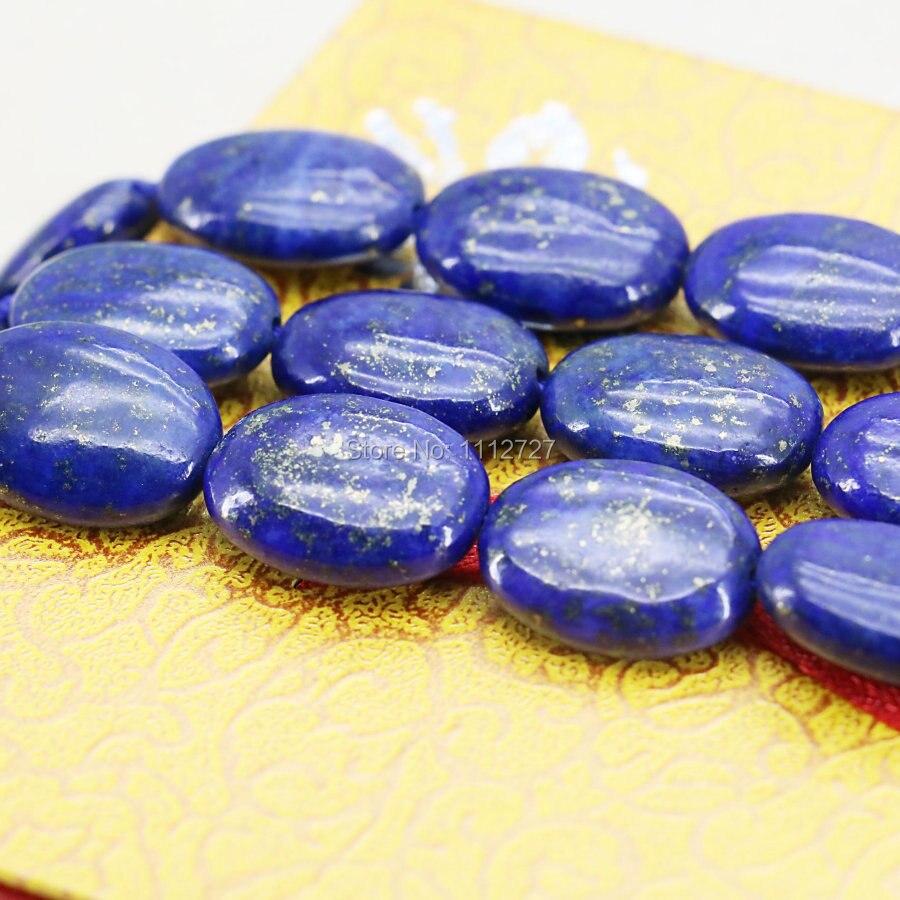 13x18mm accesorios al por mayor artesanías lapislázuli elipse Oval cuentas sueltas Semi terminadas piedras para hacer joyas regalos para niñas 15 pulgadas