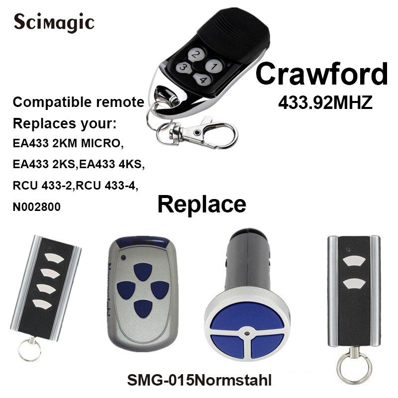 5pcs For Crawford EA433 2KM MICRO/EA433 2KS EA433 4KS/RCU 433-2 433-4 N002800 Crawford garage door opener rolling code 433.92MHz