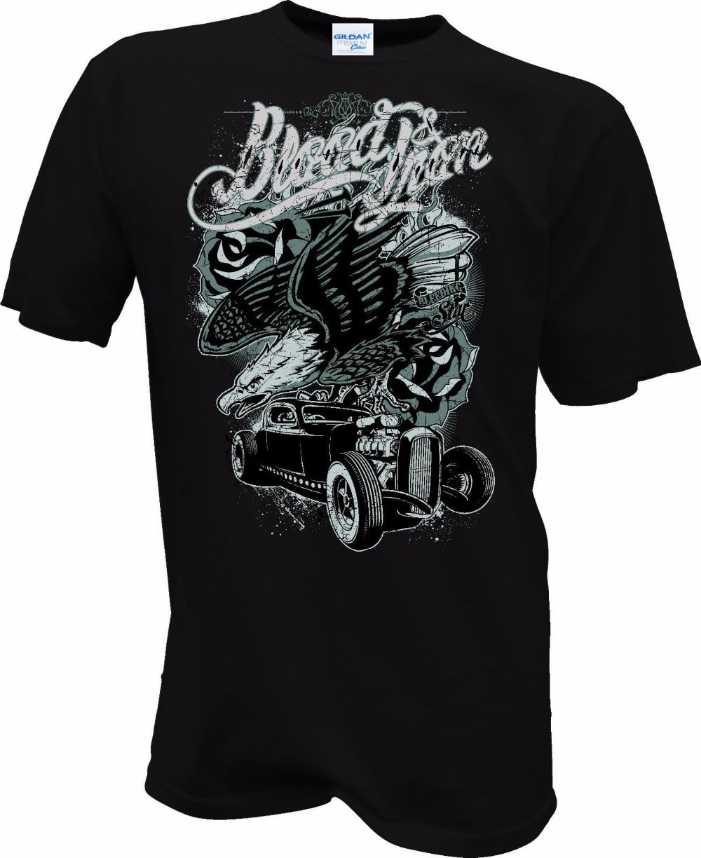 Brand Clothing Men T-shirt 3D Print Short Sleeve Men Short Sleeves T Shirt Hot Rod Tattoo Biker Skull Rocker Yakuza USA  free T