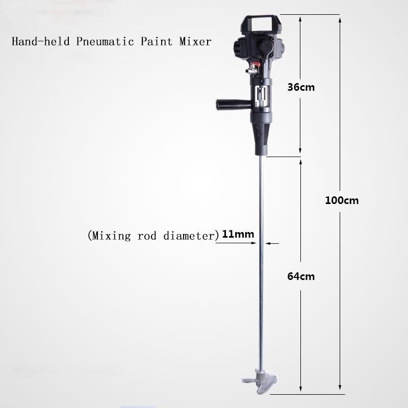 Máquina de misturador de tinta de lâmina de aço inoxidável misturador de tinta pneumático à mão 5 galões agitador de mistura pneumática