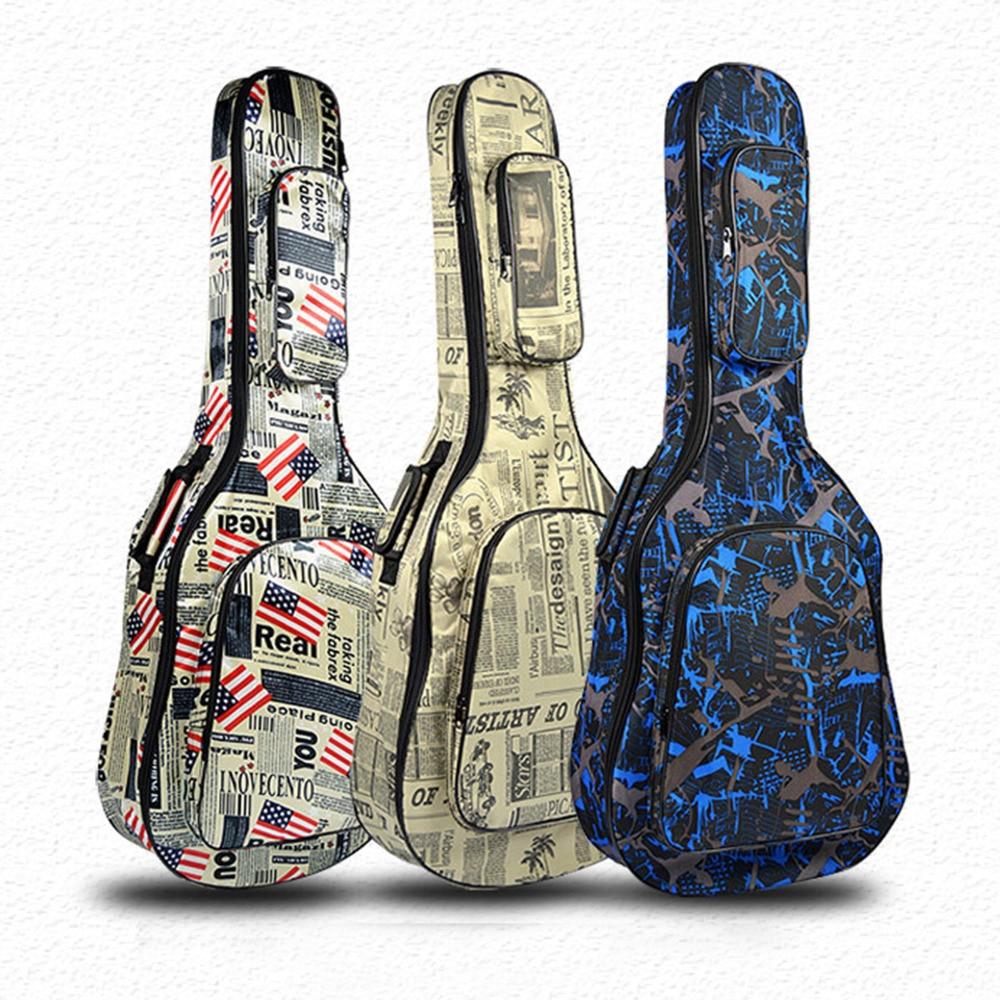 """40/41 """"saco de guitarra clássica à prova dwaterproof água 600d oxford caso guitarra espessa esponja show saco com cintas carring"""