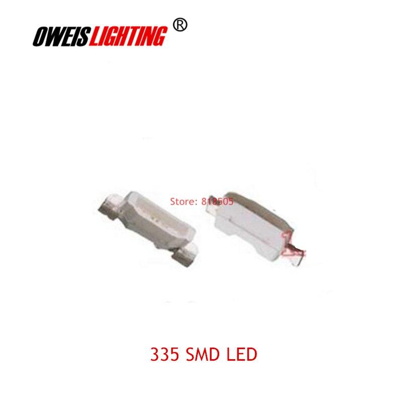 20 шт. 335 SMD СВЕТОДИОДНЫЙ 4,0*0,8 мм 4008 боковое излучение лампы красный синий желтый зеленый белый (истинный/холодный) 20 мА 2PIN Бесплатная доставка