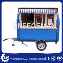 Rua café equipamentos de vending do snack food trailer, carrinhos de cachorro quente, caminhões de alimentos móvel para venda