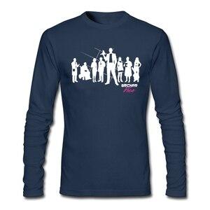 Spring Men 3D Print Screw Neck Archer Vice - The Line Up T Shirts Fun Creator T tee shirt Cotton Long sleeved Camisetas Men