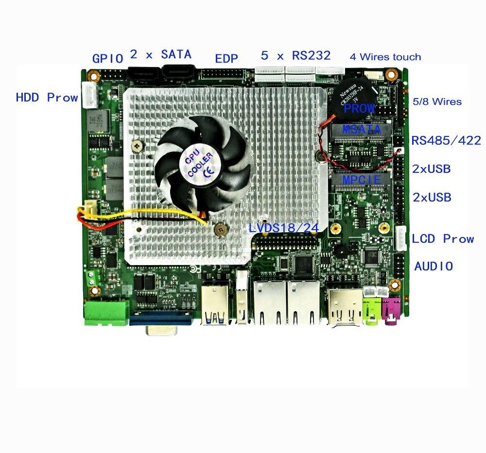 Placa base Industrial sin ventilador 6 * COM Intel qm77 con procesador intel core i5 2430M