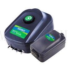 Pompe à Air silencieuse 220v 8W 12W   Aérateur dair réglable Super silencieux à 4 sorties, Aquarium pour poissons, oxygène, aérateur dair Koi pour poisson