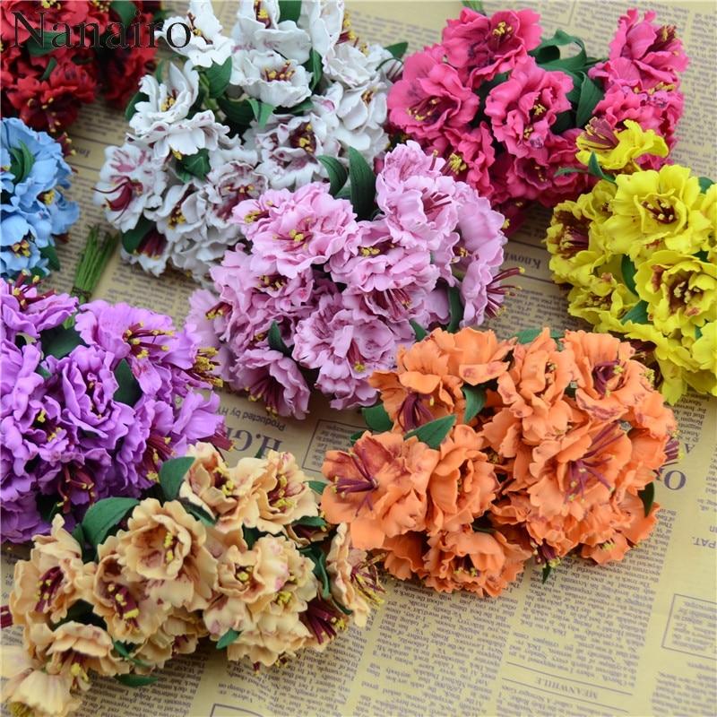 10 unids/lote 4,5 cm EVA Mini cabeza único color PE Rosa ramo de flores de espuma de Scrapbooking Headmade Rosa Artificial flor