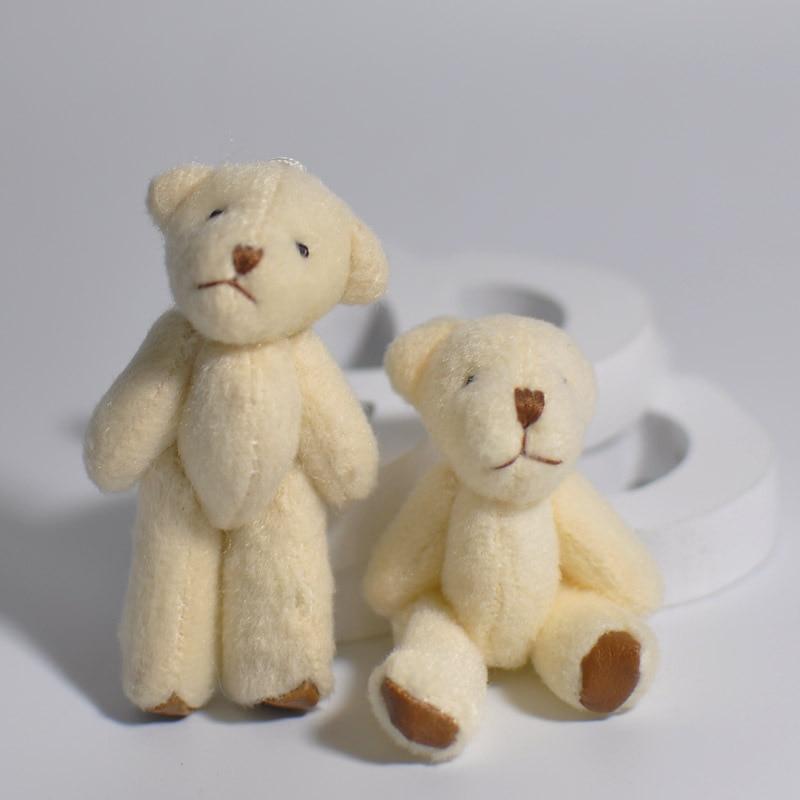 6cm 60 unids/lote Mini articulación oso muñecos de Peluche Kawaii oso de Peluche juguete de Peluche colgantes DIY Juguetes Decoración Para ramo de boda