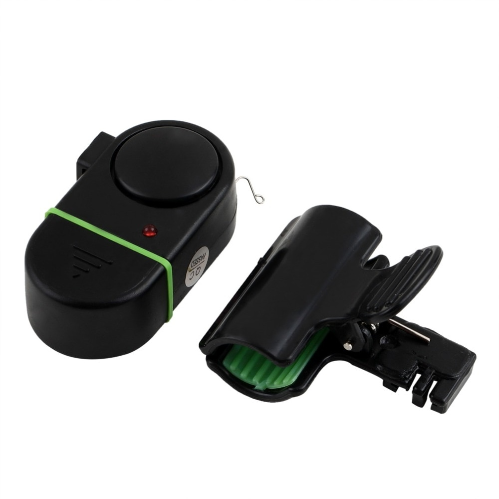 Электронный Датчик звуковой сигнализации Bite Fish Strike с зажимом в виде колокольчика, удочка, снасти, W/светодиодный светильник с 3 * AG-13 кнопками, черный цвет