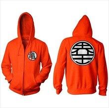 Dragon Ball Z Goku Kame symbole DBZ Zip hommes printemps Hoodies Orange veste manteau dessin animé Cosplay Costume porter taille américaine