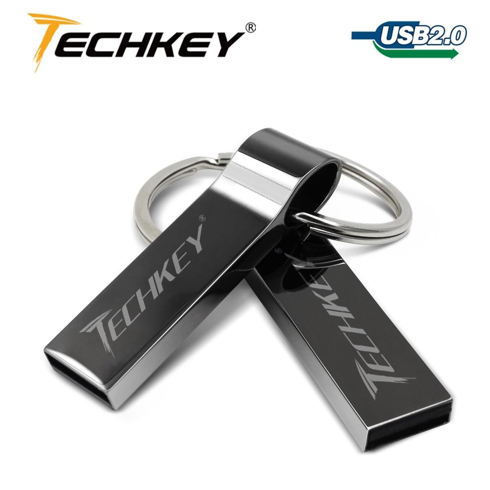 Wodoodporny Metal srebrny pamięć usb 64gb pen drive 32GB 16GB 8GB 4GB pendrive z kluczem pierścień u pamięć dyskowa dysku usb 2.0