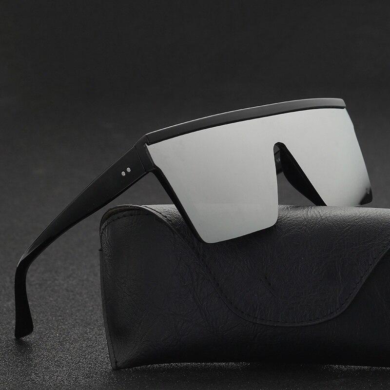 Мужские плоские квадратные солнцезащитные очки УФ400