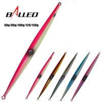 Balleo 60g 80g 100g 120g 150g 1pcs/lot Deep sea Metal Jig Jigging Fishing fish Lure Jigbait spoon baits