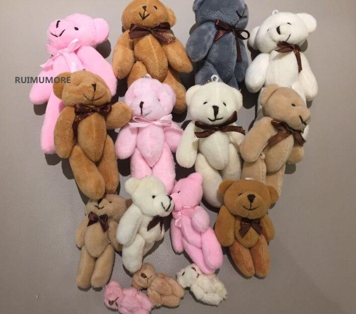 Juguetes de oso pequeño, 3,5 cm, 8 cm, 11 cm, 13cm tamaños completos, muñeco de juguete de peluche oso, juguetes de decoración para ramo de boda