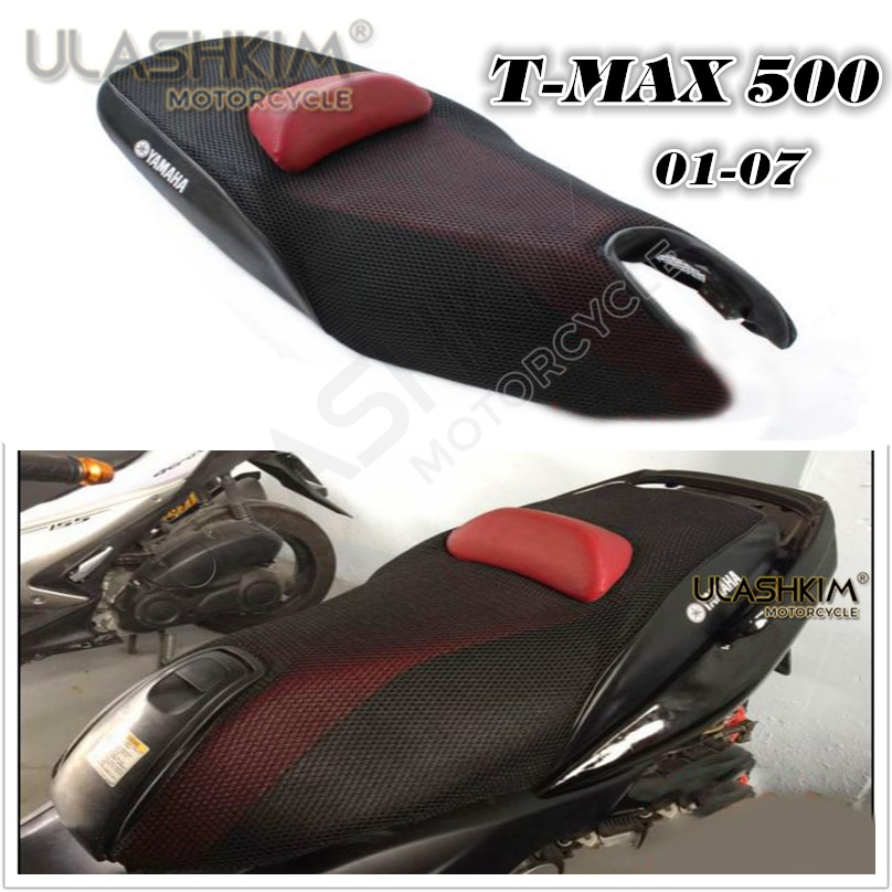 Funda de cojín con protector solar 3D de 7mm, funda de asiento modificada t-max, funda de cojín térmico con aislación para Yamaha Tmax500 2001-2007