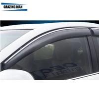 sun visor high quality pp material car window visor wind deflector sun rain guard defletor for camry 40 2007