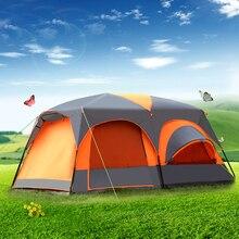 Ultralarge 8-12 personne 2 chambre 1 salon auvent soleil abri fête famille randonnée plage pêche en plein air Camping tente