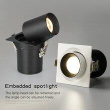 PULUOTI encastré Angle réglable télescopique support de lampe LED spot