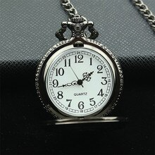 Japanese Kuroshitsuji Black Butler Sebastian Theme Pocket Watch With Necklace Chain women and men cosplay gun color antique