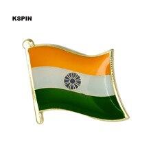 Inde drapeau épinglette épinglette badge broche icônes 1PC inde KS-0207