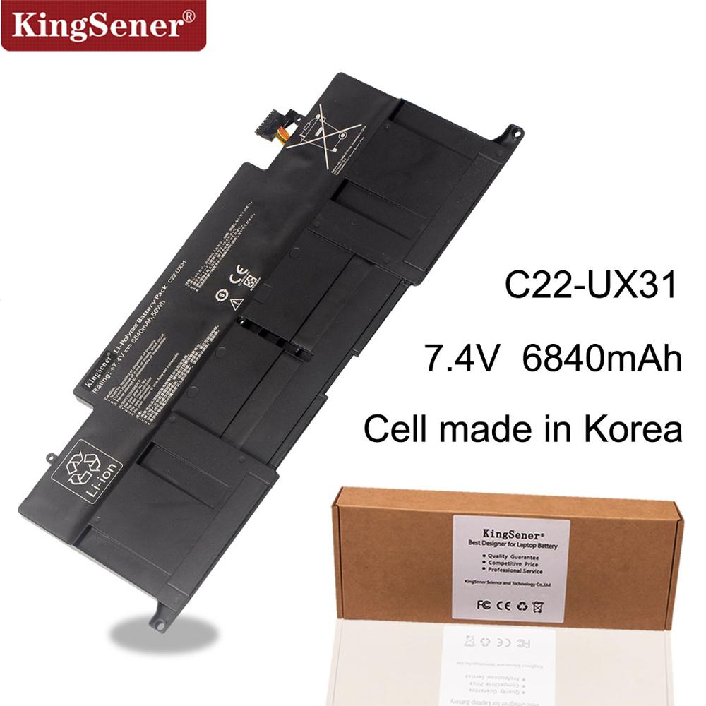 KingSener Neue C22-UX31 Laptop Batterie für ASUS Zenbook UX31 UX31A UX31E UX31E-DH72 C22-UX31 C23-UX31 7,4 V 50WH/6840 mAh