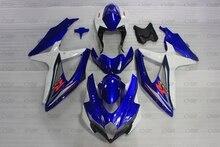 GSXR 600 2008 - 2010 K8 Plastic Fairings GSX R 600 08 09 Motorcycle Fairing GSX-R750 08 09 Blue White Fairing Kits