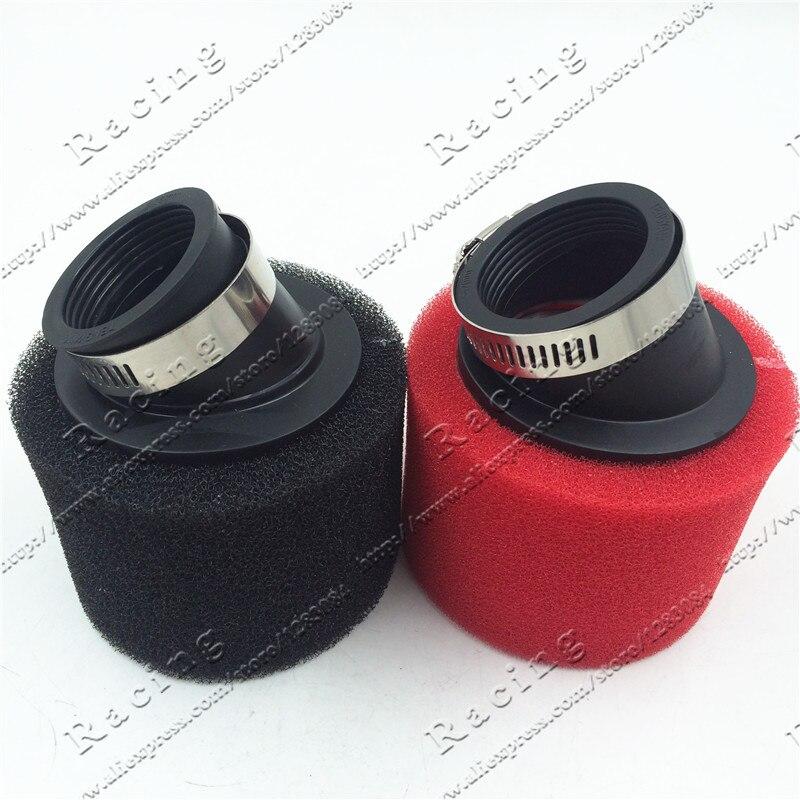 Воздушный фильтр 32 мм-48 мм ATV PIT DIRT BIKE, 45 градусов, угловой, поролоновый, Pod Cleaner 110cc 125cc RED CRF50 XR50 CRF