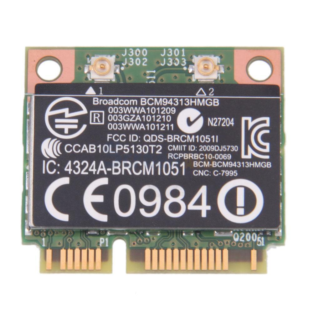 Tarjeta adaptadora inalámbrica para BroadCom BCM94313HMGB BCM4313 Wifi + Bluetooth 4,0 Mini PCI-E 150Mbps para HP G4 G6 DV6 SPS 657325-001