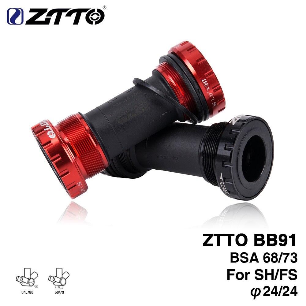 ZTTO BB91 rodamiento externo soportes inferiores para bicicleta BSA68 68 73 hilo para piezas Prowheel 24mm Crankset impermeable CNC MTB