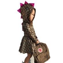 Pudcoco/От 0 до 5 лет; Платье для новорожденных девочек; Одежда для девочек; Костюм принцессы с динозавром для вечеринки; Новинка; Платья; Одежда для малышей