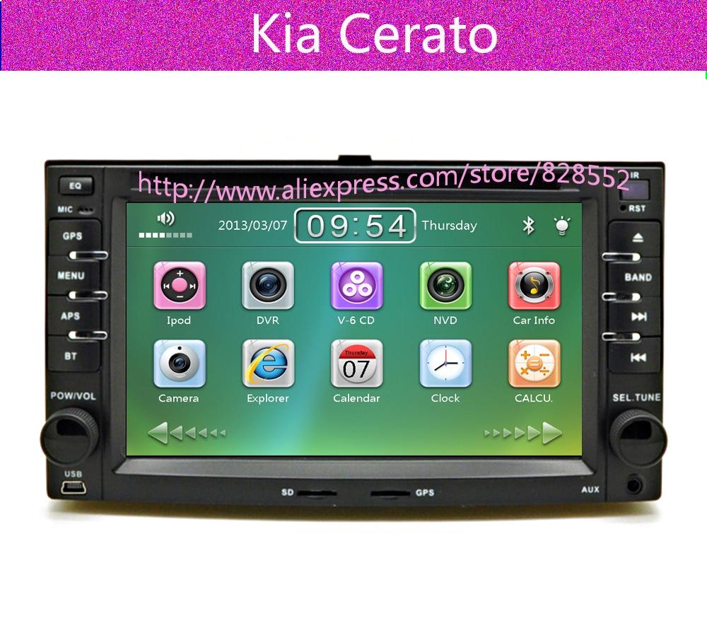 Envío Gratis 2007.2008.2009 año KIA cerato reproductores de dvd para coche con GPS tv radio Bluetooth Ipod Tarjeta de mapa de regalo