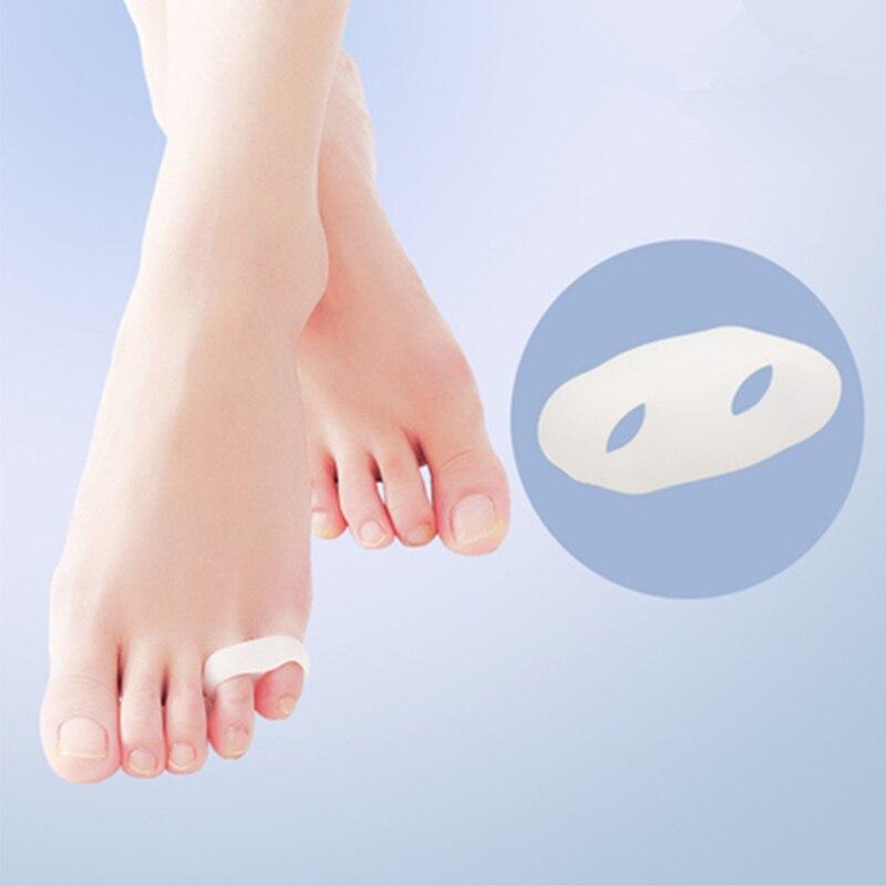 1 пара 2 отверстия обезболивающие инструменты для ухода за ногами разделители пальцев растягиватели выпрямители выравнивание антимозольны...